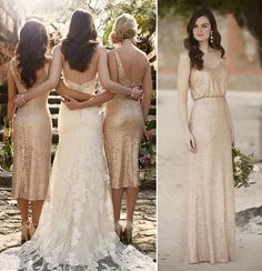 Love these gold sparkle dresses,  6 bridesmaids will be hard to dress #OCHWedding
