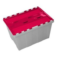 12 gal. Flip Top Clear Body Candy Lid Tote-206741 at The Home Depot