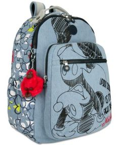 a17aa63a4 Kipling Disney's Mickey Mouse Seoul Go Laptop Backpack - Blue Mochila Para  Notebook, Disney Mickey