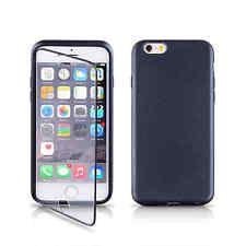Apple iPhone 6S Plus Black Ultra Thin Window TPU Gel Case Cover + Protector