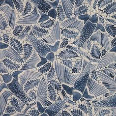 Discover recipes, home ideas, style inspiration and other ideas to try. Textiles, Textile Patterns, Textile Design, Print Patterns, Bird Wallpaper, Pattern Wallpaper, Surface Pattern Design, Pattern Art, Batik