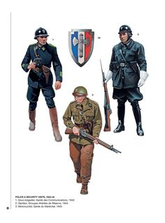 World War II Vichy French Security Troops Ww2 Uniforms, Military Uniforms, Italian Army, Army Uniform, French Army, Military Diorama, Dieselpunk, Military History, World War Two