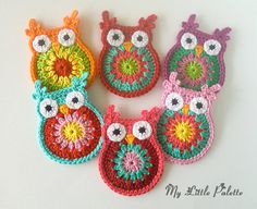 Crochet Owl  CHOOSE ONE OWL por Mylittlepalette en Etsy, $5.00