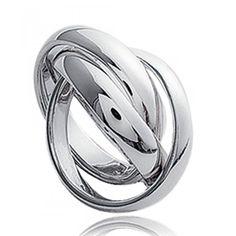 Ladies silver Trilogie rings