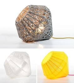 #3D #printed interior design of lampshades. Start making your own 3d prototype now at www.mylocal3dprin...