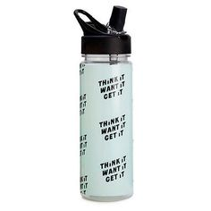 Water Bottle - Ban.do Bando - Work It Out - Think It Want It Get It