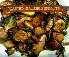 Oven Roasted Brussels Sprouts | 1 pound Brussels Sprouts, 2 Tbsp olive oil, 1 Tbsp balsamic vinegar, Sea salt, Black pepper.