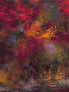 Passions, Boulogne forest 7016-B, Dyptich(65x54cm, Painted in 2013), Rikka Ayasaki