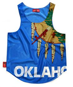 """OKLAHOMA """"SOONER STATE"""" FLAG TANK TOP by CHRiS CARDi House of Design"""