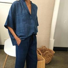 How to Have the Best Minimalist Capsule Wardrobe for Summer Looks Chic, Looks Style, Style Me, Baggy Trousers, Women's Pants, Look Fashion, Womens Fashion, Tomboy Fashion, Fashion Today