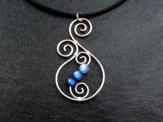 Necklace Aotearoa with Polarisbeads BLUE New by ArohaJewelz, €11.00