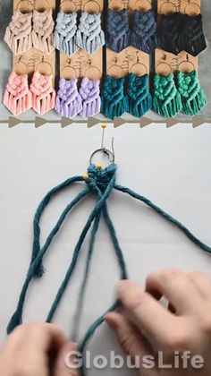 Diy Earrings Easy, Macrame Earrings Tutorial, Macrame Tutorial, Earring Tutorial, Macrame Wall Hanging Diy, Macrame Art, Macrame Projects, Macrame Jewelry, How To Macrame