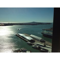 View from a clients office of Auckland harbour