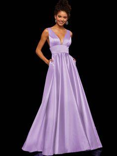 a902bdd6271 Women Fashion Deep V Neck A-Line Evening Dress