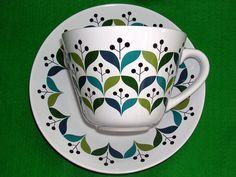 "Sagaform ""Retro"" Breakfast Cup and Saucer Lotta Odelius Vintage Kiely Parallel | eBay"