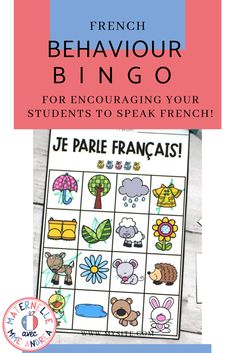 Looking for a fun & unique way to encourage your French students to « parler en français »? Why not give this French behaviour bingo a try?? French Behaviour Bingo is a fun way to reward your students for speaking French, with a little element of chance thrown in. #frenchimmersion Behavior Bingo, Oral Communication Skills, Sticker Chart, Bingo Board, French Immersion, How To Speak French, Calling Cards, France, Teacher Pay Teachers