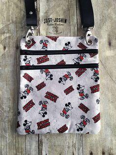 Available on @etsy Mickey Mouse Disney  Geeky Fandom Cross-body Bag Zip and Go Hipster Fandom Purse - RTS Handmade Cute Custom Bag by JustJoshinCreations #etsyfinds #etsy #handmade