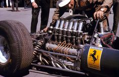 Only 1500 cc, but 12-cylinders – the engine of John Surtees' 1964 Ferrari 1512