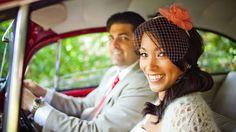 Simple wedding, love the hair and veil!