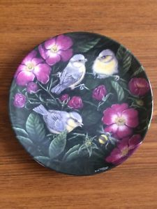 Wedgewood Bone China Collectors Plate Fledglings By Dick Twinney Blue Tits
