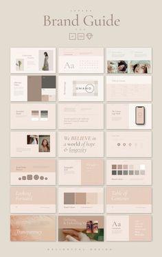 Web Design, Website Design, Book Design, Design Ideas, Powerpoint Design Templates, Branding Template, Creative Powerpoint, Card Templates, Brand Manual