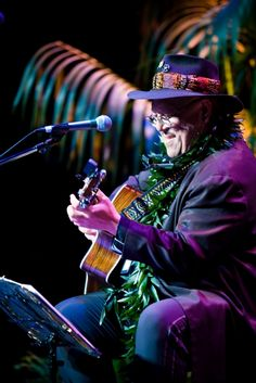A National Treasure! //Hawaiian singer/songwriter Dennis Kamakahi featured in Easy Reader today