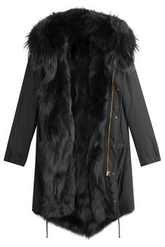 Cotton Parka with Fox Fur Lining | Barbed