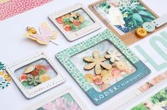 Love these fun pockets created with with frames and plastic!