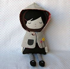Love this doll. Would be cute to put in a bed, on a quiet book page