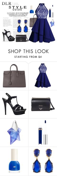 """DLRBOUTIQUE.COM"" by ice87 ❤ liked on Polyvore featuring Yves Saint Laurent, Jimmy Choo, Thierry Mugler, H&M and Kenneth Jay Lane"