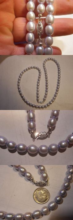 Necklaces and Pendants 165042: 14Kwg Vintage Silver Gray High Quality Cultured 8Mm Pearl 27 Necklace Mint -> BUY IT NOW ONLY: $99.99 on eBay!