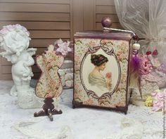 Купить Короб и манекен для любимых дам - бордовый, короб, короб для хранения, коробка для мелочей, заготовка