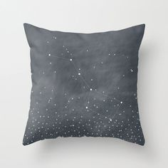 Ursa Major, Big Dipper Stars Dark Grey Blue Throw Pillow Cover $36