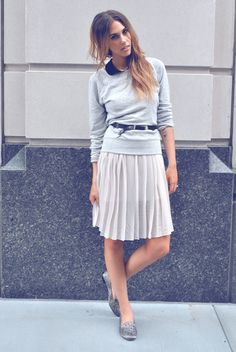 """Amanda of """"One of Each"""" wearing UO's jewelry and studded loafers #urbanoutfitters #samedelman @Amanda Shoemaker"""
