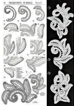 Risultati immagini per letras e artes da lálá irish crochet irlandes Appliques Au Crochet, Crochet Motifs, Freeform Crochet, Crochet Diagram, Crochet Stitches, Irish Crochet Tutorial, Irish Crochet Patterns, Crochet Designs, Irish Crochet Charts