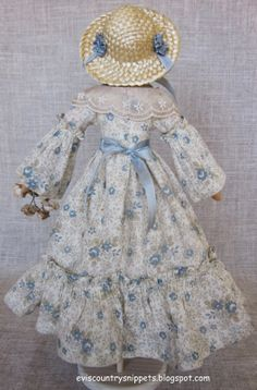 Rear view of country doll