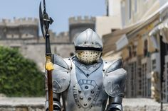 """A vintage Iron Knight with pole-axe staya on fortress defend.  My photography website:  <a href=""""http://www.example.com"""">AlexanderNikiforov.ru</a>"""