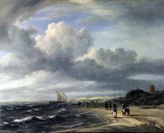 La Côte à Egmond aan-Zee- de Jacob Isaakszoon Van Ruisdael (Ruysdael) (1628-1682, Netherlands)