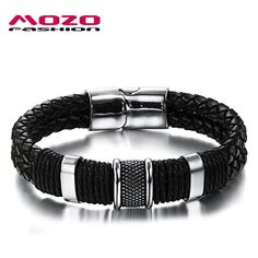 2016 new fashion fine jewelry tide men leather titanium steel bracelets male Vintage bracelet personality gifts MPH891 - The Big Boy Store