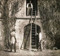 The Ladder William Henry Fox Talbot 1844 - very early calotype photographic process. Fox Talbot was one of the earliest pioneers of photography in the century. History Of Photography, Vintage Photography, Art Photography, Louis Daguerre, Edward Steichen, Alfred Stieglitz, Fine Art Prints, Framed Prints, Canvas Prints