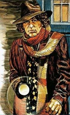 4th Doctor, Doctor Who Art, Dr Who Tom Baker, Best Sci Fi Shows, Classic Doctor Who, Arkham Asylum, Character Sketches, Gothic Horror, Bad Wolf