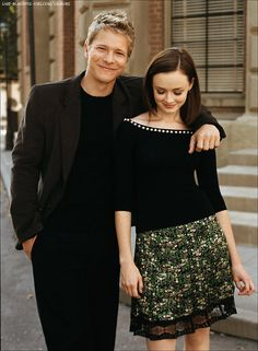 Matt Czuchry and Alexis Bledel - love this pic of Logan and Rory