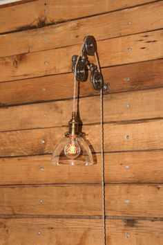 Industrial Swivel Wall Mount Pulley Light with by IndustrialRewind