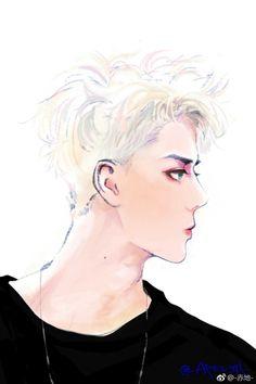 Chanyeol, Exo, Kdrama, Fanart, Movie, Anime, Film, Fan Art, Cinema