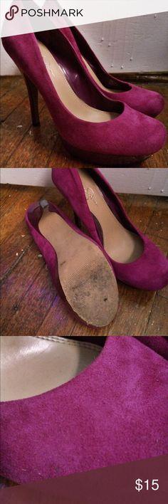 Jessica Simpson Purple Platform High Heels Size 10 Jessica Simpson purple platform high heels, worn a handful of times Jessica Simpson Shoes Heels