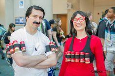 Bob & Linda Belcher from Bob's Burgers - SDCC 2015 (Spice rack! Hee!)
