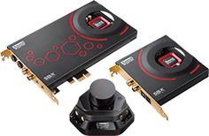 Creative Sound Blaster ZxR PCIe Audiophile Grade Gaming Sound Card with High Performance Headphone Amp and Desktop Audio Control Module Creative Sound Card, Creative Labs, High Quality Headphones, Sound Blaster, Pc Components, Digital Cable, Headphone Amp, Japan, Audiophile