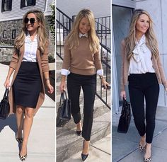 Camel and black work outfit - Work Outfits Women Stylish Work Outfits, Smart Casual Outfit, Business Casual Outfits, Work Casual, Casual Office Outfits Women, Smart Casual Women, Fashionable Outfits, Dressy Outfits, Classic Outfits