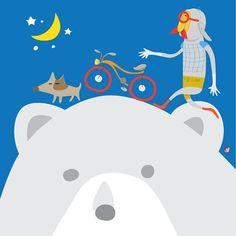 달 찿아 가는 길...road to the moon. #moon #illustration #bear