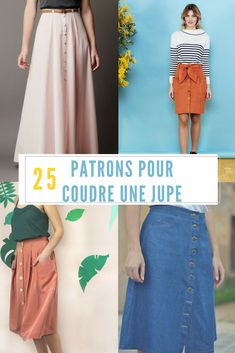 Crochet clothes 167829523597190792 - Coudre une jupe / Patron de couture jupe / sewing patterns skirt Source by mcidees Skirt Patterns Sewing, Sewing Patterns Free, Skirt Sewing, Pattern Skirt, Stitching Patterns, Pattern Sewing, Sewing Clothes, Diy Clothes, Diy Vetement